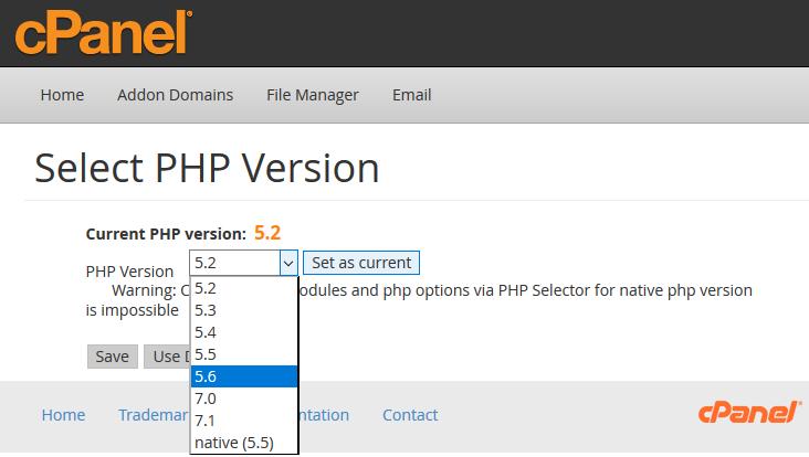 wybór bibliotek PHP